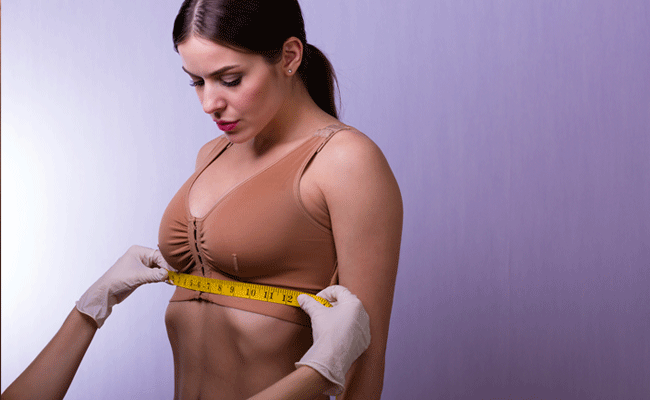breast augmentation measurements taken after surgery